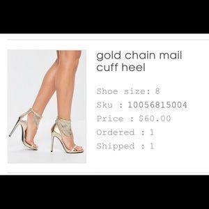 brand new never worn gold heels